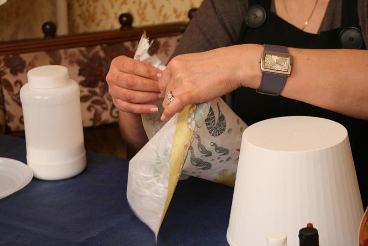 Cветильник в технике декупаж