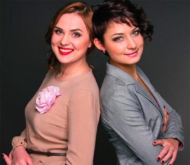 Мария Белянская, стилист-визажист и Татьяна Лазарева, дизайнер